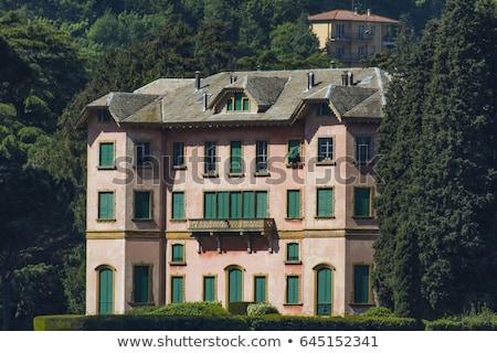 Villa Italia vista lago naturaleza verano Foto stock © boggy