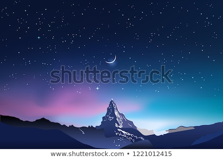 hegyek · vektor · eps · 10 · gradiens · háló - stock fotó © marysan