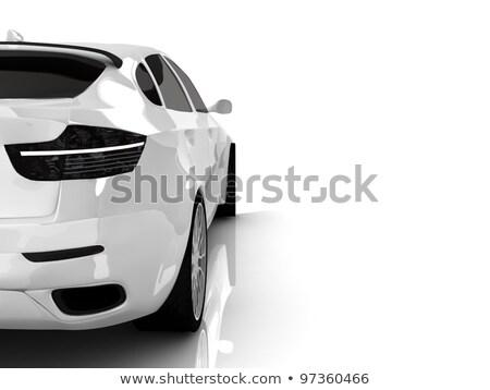 drága · autó · új · autó · kereskedő · szalon · fény - stock fotó © inxti