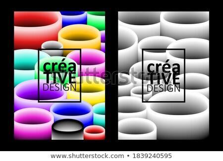 üzlet elemek kártyák szett marketing sablon Stock fotó © Linetale