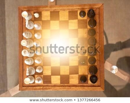 chess wooden chessboard lens flare stock photo © limbi007