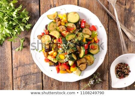 ratatouille, grilled zucchini, tomato and bell pepper Stock photo © M-studio