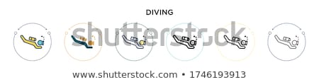 Stock photo: Scuba diving equipment in black color