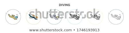 dalış · ayarlamak · beyaz · spor · web - stok fotoğraf © colematt