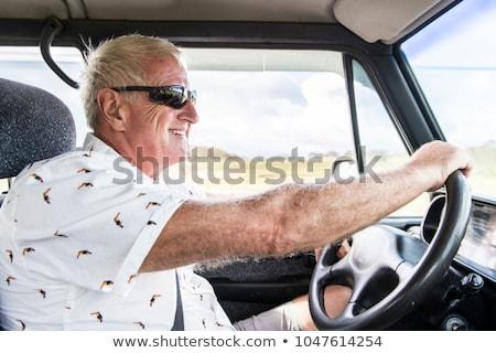 シニア · 車 · ドライバ · 歳の男性 · 車両 · 交通 - ストックフォト © lopolo