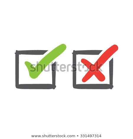 チェック ボックス はい にログイン シンボル テンプレート ストックフォト © romvo