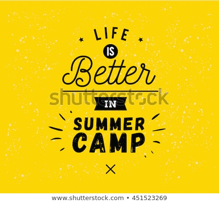 Color vintage summer camp banner Stock photo © netkov1