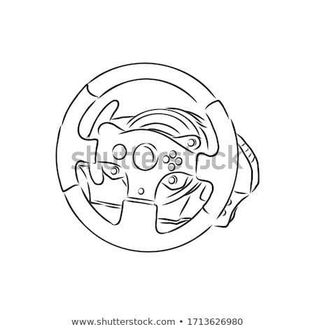 Volante dibujado a mano garabato icono Foto stock © RAStudio