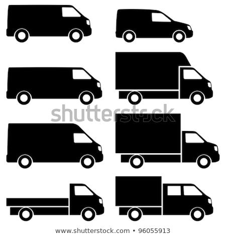 Kereskedelmi furgon ikon szín árnyék terv Stock fotó © angelp