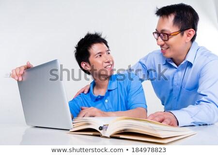 Chinese man_complex Stock photo © toyotoyo