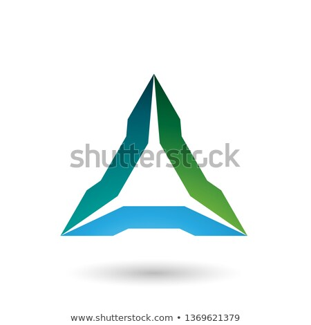green and blue spiked triangle vector illustration stock photo © cidepix