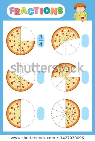 ピザ 数学 背景 芸術 楽しい パズル ストックフォト © colematt