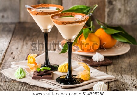 Chocolate martini cocktail or Irish cream liquor Stock photo © furmanphoto