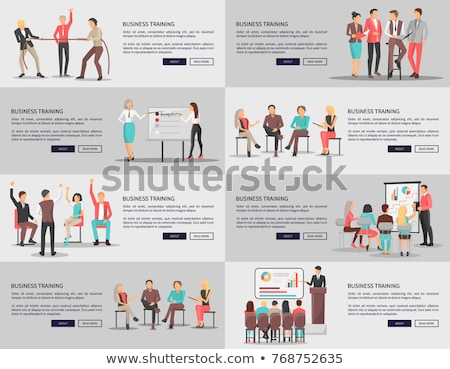 Business Training Seminars With Workers Vector Foto stock © robuart