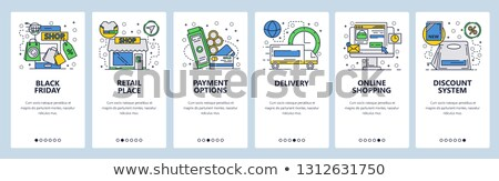 Application for Online shop Linear Icon Template Stock photo © robuart