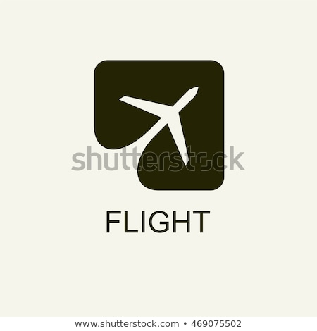 plane flying out of the square - logo design Stock photo © djdarkflower