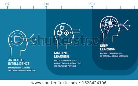 Zdjęcia stock: Rozwój · humanoid · robot · sztuczna · inteligencja · 3d · ilustracji · komputera