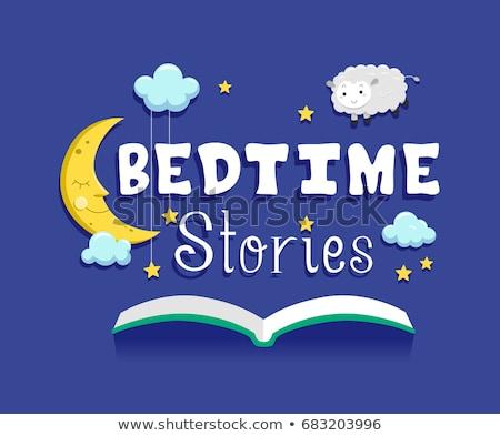 Bedtime Stories Book Illustration Stock photo © lenm
