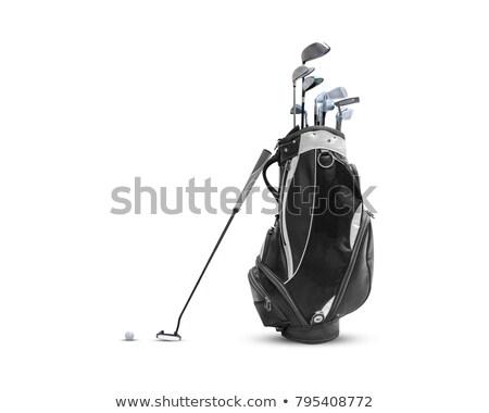 Gezicht zwarte golf club wig ijzer Stockfoto © feverpitch