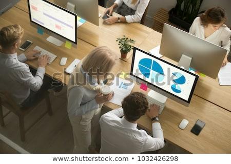 senior · zakenman · werken · computer · business · internet - stockfoto © giulio_fornasar