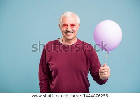 Gelukkig gepensioneerd man trui bril Stockfoto © pressmaster