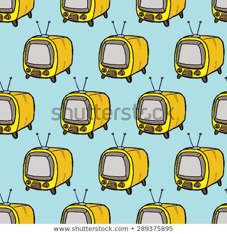 Cute retro televission cartoon hand drawn style Stock photo © amaomam