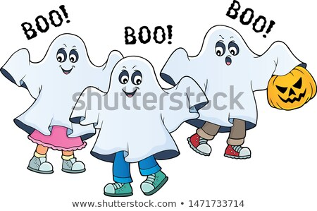 Kids in ghost costumes theme image 2 Stock photo © clairev