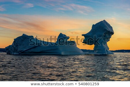 Global warming - Greenland Iceberg landscape of Ilulissat icefjord with icebergs Stock photo © Maridav