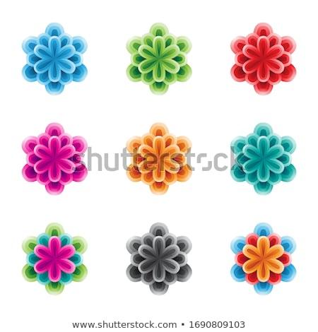 Foto stock: Brilhante · colorido · flores · camadas · vetor · ilustração