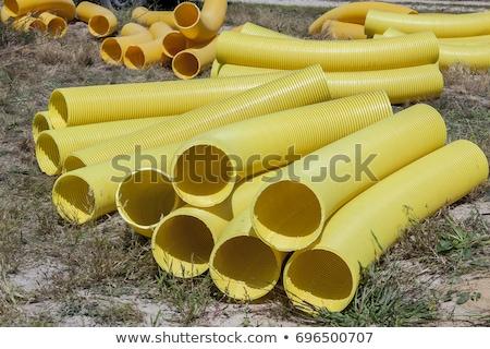 yellow drainage pipe Stock photo © prill