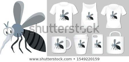 Graphic of mosquito on different types of product template Stock photo © bluering