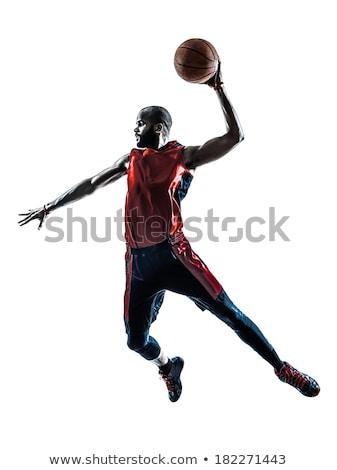 Kosárlabdázó labda kéz férfi absztrakt terv Stock fotó © jossdiim