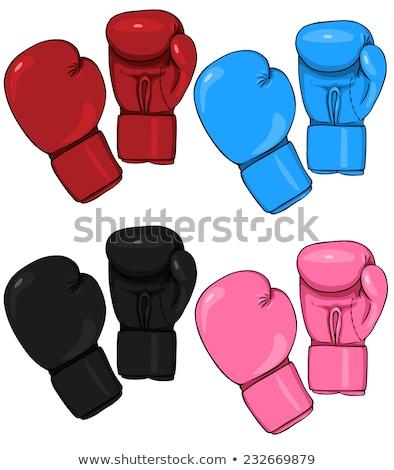 Gants de boxe sport concurrence encre vecteur Photo stock © pikepicture