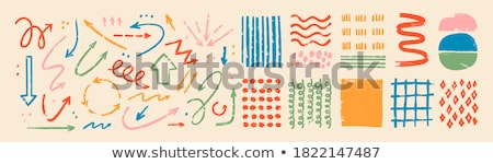 Various vector black spiral elements set isolated Stock photo © blumer1979