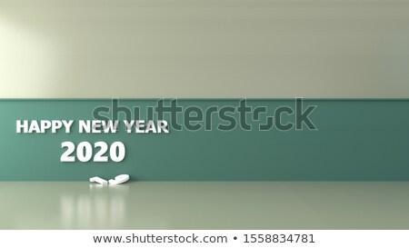 Feliz ano novo ilustração brilhante número queda confete Foto stock © articular