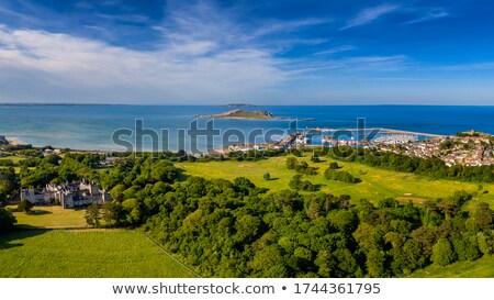 Kasteel Ierland middeleeuwse hemel stad muur Stockfoto © borisb17
