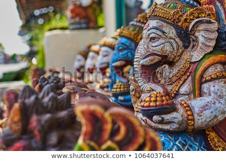 Typical souvenirs and handicrafts of Bali at the famous Ubud Market Stock photo © galitskaya