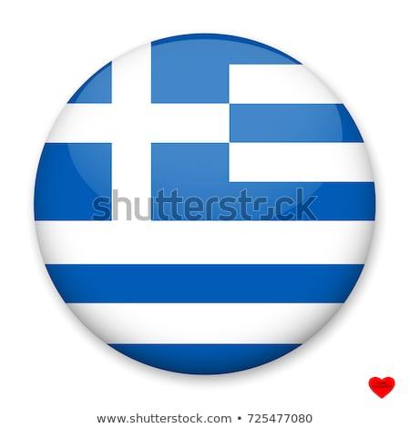 Греция флаг белый карт стране шелковые Сток-фото © butenkow