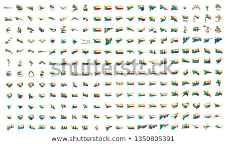 very big collection of vector flags of the Comoros Stock photo © butenkow