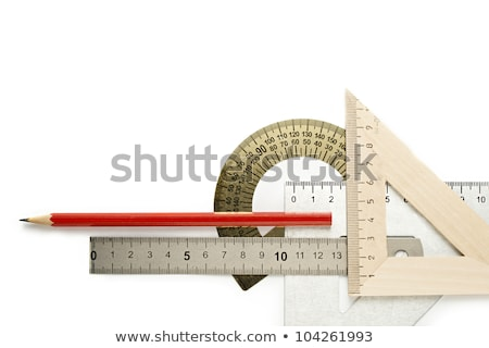 protractor pencil graphic design tools Stock photo © yupiramos