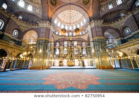 interior · ver · mesquita · istambul · Turquia - foto stock © backyardproductions