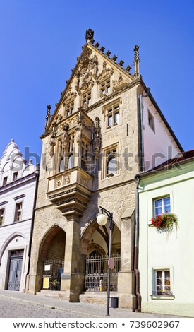 detail of Stone House, Kutna Hora, Czech Republic Stock photo © phbcz