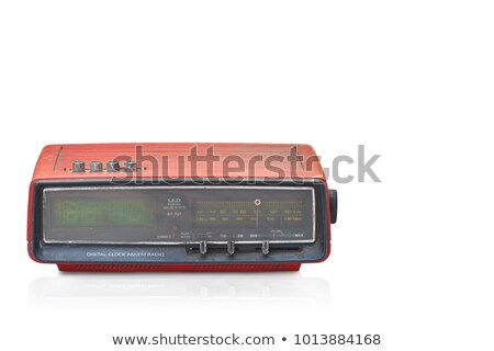 Vintage clock radio. Stock photo © iofoto