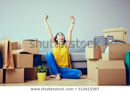 young women moving home stock photo © photography33