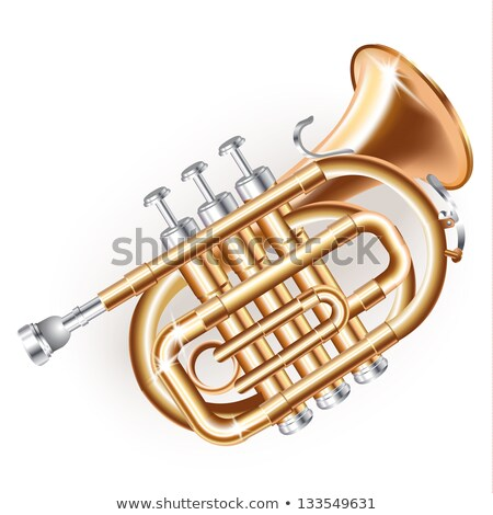 gold lacquer trumpet Stock photo © ozaiachin