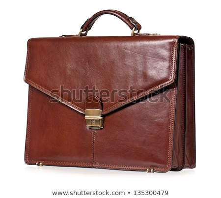 Brief case brown leather Stock photo © nicemonkey