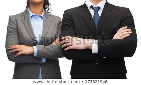 Mooie man vrouw werken kantoor vergadering Stockfoto © photography33