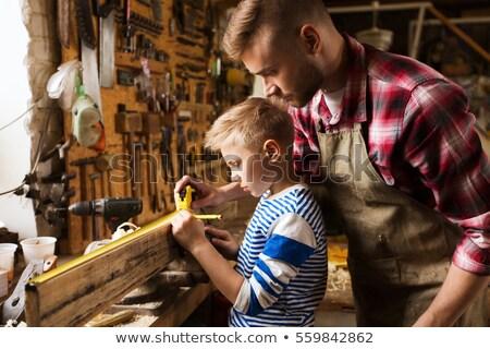 Stok fotoğraf: Erkek · marangoz · ahşap · el · adam