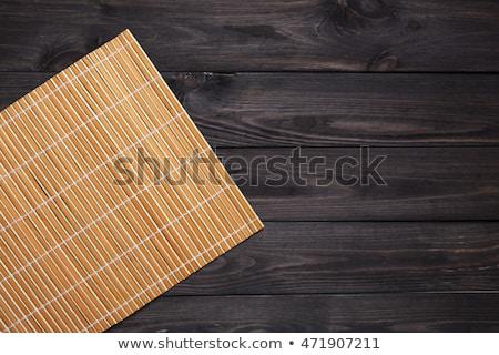 hagyományos · japán · szusi · bambusz · szalvéta · japán · étel - stock fotó © simpson33