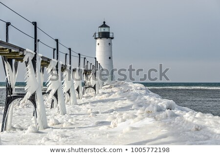 Manistee Lighthouse on Lake Michigan stock photo © Kenneth_Keifer